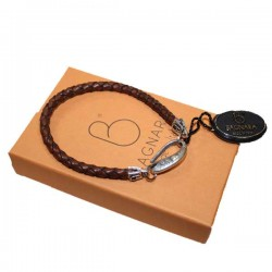 Bracelet cuir tressé Bagnara