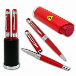 Stylo bille Férrari Maranello finition rouge +porte clé