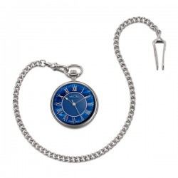 Montre de poche Dalvey blue mother of pearl