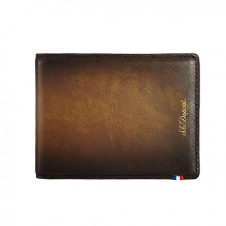 Porte cartes St Dupont cuir grainé