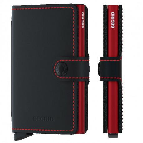 Porte cartes Miniwallet Secrid Matte Black&Red
