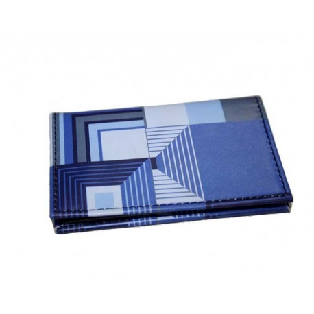 Porte cartes cuir ACME biltmore blue