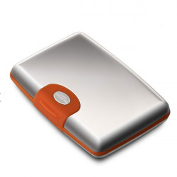 Porte cartes Dalvey soft-touch orange