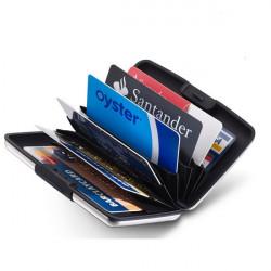 Porte cartes Dalvey soft-touch noir