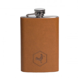 Flasque Chacom CC270 Gainée cuir Havane