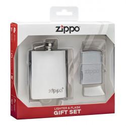 Coffret Briquet et Flasque Zippo