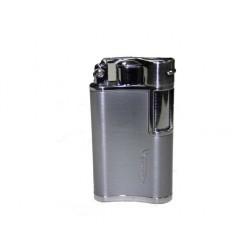 Briquet Vector flask chrome satin