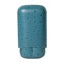 Etui cigares Chacom cuir Bleu CC1265