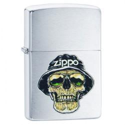 Zippo Skull in hat design