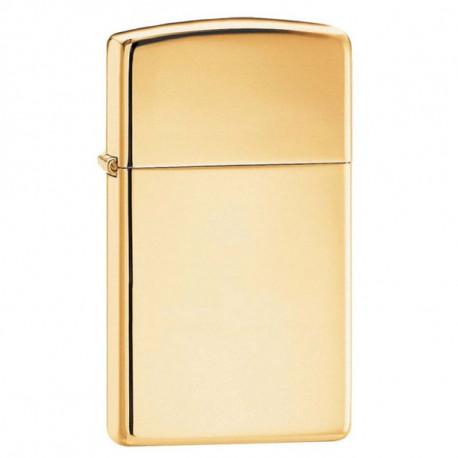 Zippo solid brass slim 851029