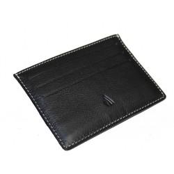 Etui 6 cartes de crédit cuir noir