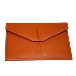 Petite enveloppe Tour Eiffel orange