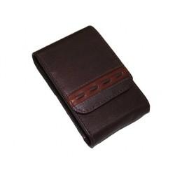 Etui pour paquet de cigarettes cuir marron N702