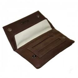 Blague à tabac cuir chocolat