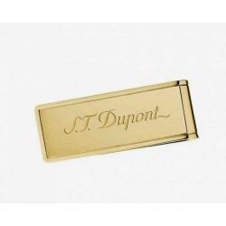 Pince à billet blason St Dupont PVD doré