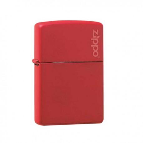 Zippo red matt with logo 855819