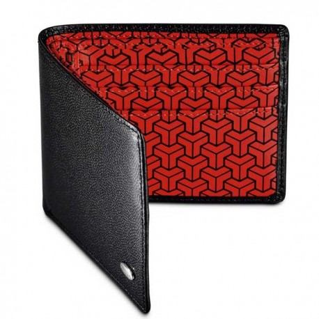 Porte cartes cuir texture caviar Dalvey