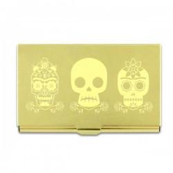 Porte cartes 3 Skulls Frida Kahlo