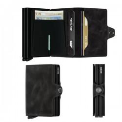 Porte cartes Secrid Twinwallet cuir vintage