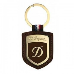 Porte-clés blason St Dupont laque marron