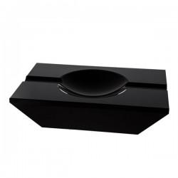 Cendrier cigares crystal noir