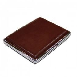 Etuis pour cigarettes longues cuir brun