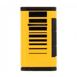 Briquet Xikar allume Yellow  black stripe