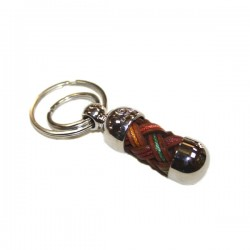 Porte clés en cuir couleur Brésil