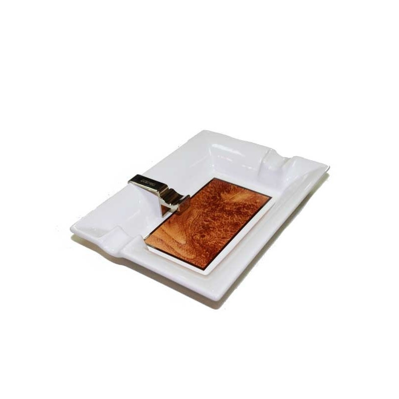 Color : Blanc, Size : 21 * 21 * 6cm Cendriers /À Cigare Domestique Cr/éatif Grand De Salon Ensemble pour Fumer Le Cigare Conception De Conduit De Gros Calibre Convient pour Le Bureau