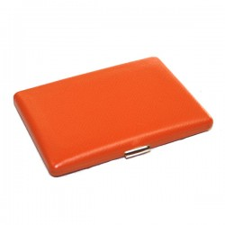 Etui cigarettes Tsubota Pearl cuir grainé orange