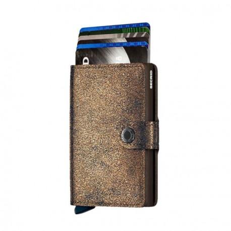 Secrid Porte-cartes en aluminium et cuir Slimwallet - 6 cartes Bleu Hf7Sa