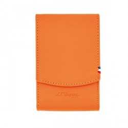 Etui pour paquet de cigarette orange ST Dupont