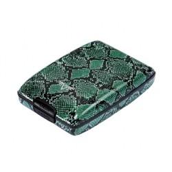 Porte monnaie Tru Virtu Green Python