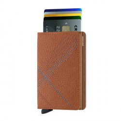 Porte cartes Slimwallet Secrid Stitch Linea Caramello