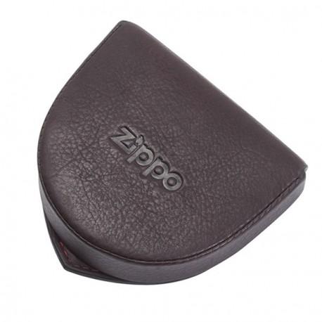 Porte-monnaie cuvette en cuir ZIPPO