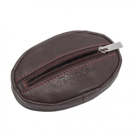 Porte-monnaie en cuir ZIPPO