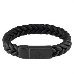 Bracelet Cuir et acier Zippo