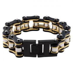 Bracelet  Zippo Chaîne noir et or